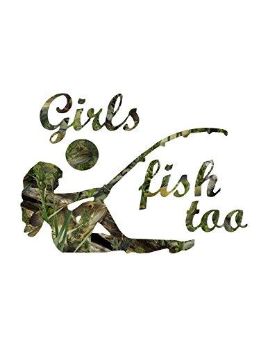 Girls Fish Too Fishouflauge Camo ()