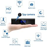 Spy Hidden Camera, Jayol Upgraded 1080P Recorder Wireless WIFI Hidden Camera In Clock, IP Covert Cameras with Night Vision, Motion Detection, Pet Baby Monitor and Home Security Nanny Cam-Sony Lens