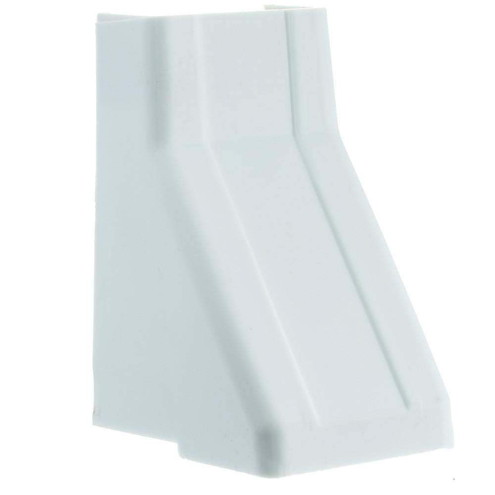 GOWOS (10-Pack) 1.25 inch Surface Mount Cable Raceway, White, Ceiling Entry