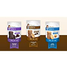Mrs. Thinster's Variety Cookie Thins TRIO (Chocolate Chip; Brownie Batter; Cake Batter) 4 oz/pack (Pack of 3)