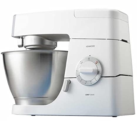 Kenwood KM336 Robot de cocina Classic Chef, 800 W, metal, color blanco
