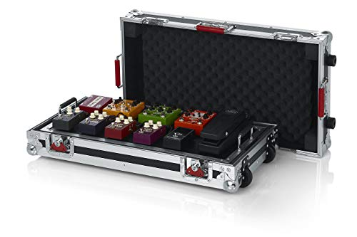 """Gator Cases G-TOUR Series Gutiar Pedal board with ATA Road Case, Wheels and Pull Handle; Large: 24"""" x 11"""" (G-TOUR PEDALBOARD-LGW) (Renewed)"""