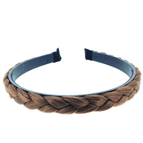 Braid Headband (Elandy Hand-made Wig Braid Hair Band Fashion Headbands for Women, Light Brown)