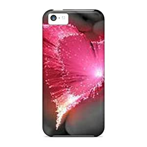 Perfect Hard Cell-phone Case For Iphone 5c With Allow Personal Design High-definition Pink Heart Skin LisaSwinburnson
