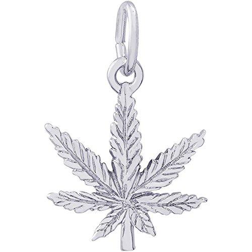 Marijuana Leaf Charm Sterling Silver