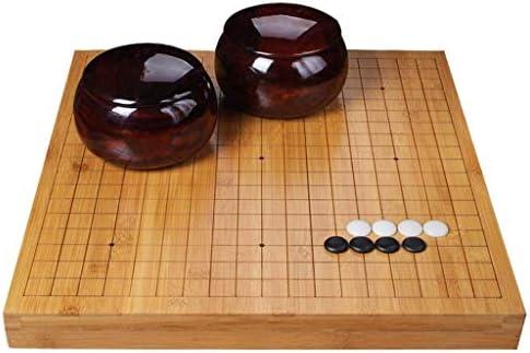 WEN Go Set , Tablero de ajedrez de Doble Cara de bambú Go Chess Set para niños Principiantes Adultos - Juego de Mesa de Estrategia Chino clásico (Size : 4cm): Amazon.es: Hogar