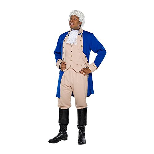 Costumes Broadway Musicals - Mens Alexander Hamilton Tan Costume size XL