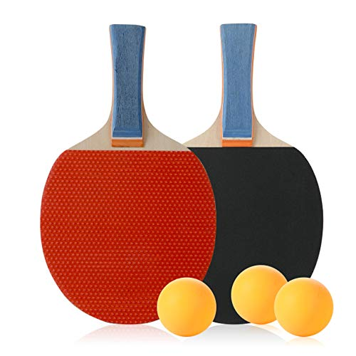 DECOQ Good Performance Table Tennis Paddle Set Playing Indoor Outdoor for Fun,Ping Pong Paddle,Ping Pong Racket by DECOQ