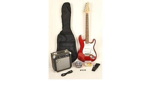 SX RST coche w/ga1065 Tamaño Completo Guitarra Eléctrica Paquete W/Guitarra, amplificador, correa y DVD con instrucciones: Amazon.es: Instrumentos musicales