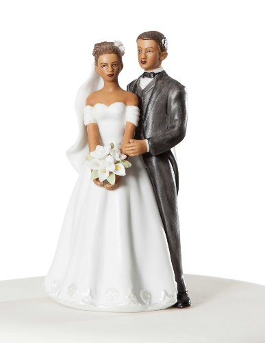 Wedding Collectibles Small Elegant African American Wedding Cake Topper ()