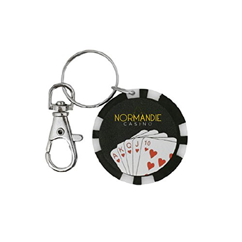 Poker Chip Flashlight Key Chain - Black - Promotional Product - Your Logo Imprinted (Case Pack of 144)