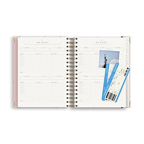 Charuca AG21 - Agenda anual, 182 x 246 mm, color rosa: Amazon.es: Oficina y papelería