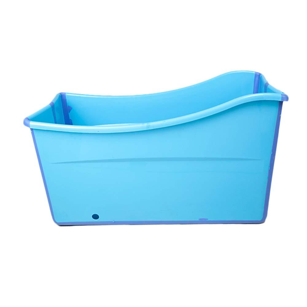 Weylan Tec Large Foldable Bath Tub Bathtub For Adult Children Baby Toddler Blue by Weylan Tec (Image #1)