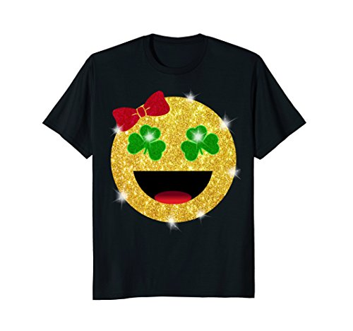 St. Patrick's Day Emoji Shirt For Girls and Kids