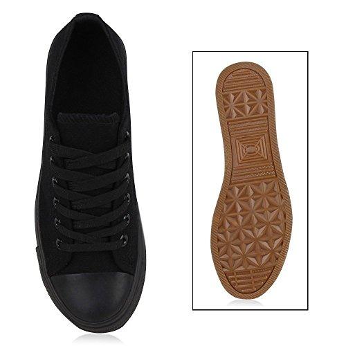 Stiefelparadies - zapatilla baja Mujer Negro - Schwarz Schwarz
