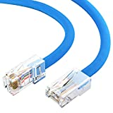 GOWOS Cat5e Ethernet Cable (2 Pack - 50 Feet) Green - 24AWG Network Cable with Gold Plated RJ45 Non-Booted Connector - 10 Gigabit/Sec High Speed LAN Internet/Patch Cable - ETL Listed
