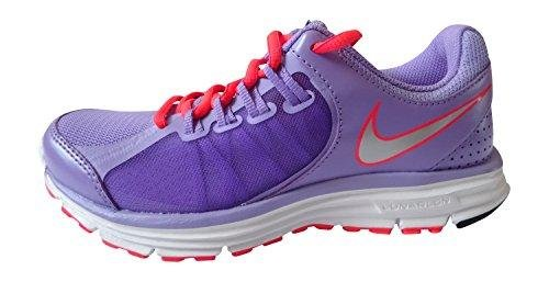 Nike Womens Lunar Forever 3 MSL Running Trainers 631428 Sneakers Shoes (US 7.5, Atomic Volt Metallic Silver Bright Grape 501)