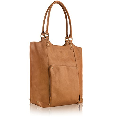 Solo Vestry 15.6 Inch Laptop Bucket Tote, Tan