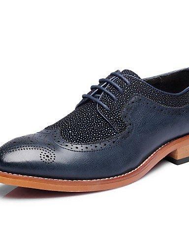 ShangYi Oxford-Schuhe Herrenschuhe Hochzeit / Büro / Party & Festivität Oxfords Lackleder Schwarz / Blau blue