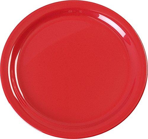 Carlisle KL20005 Kingline Dinner Plates, Set of 48 (9-Inch, Melamine, Red, ()