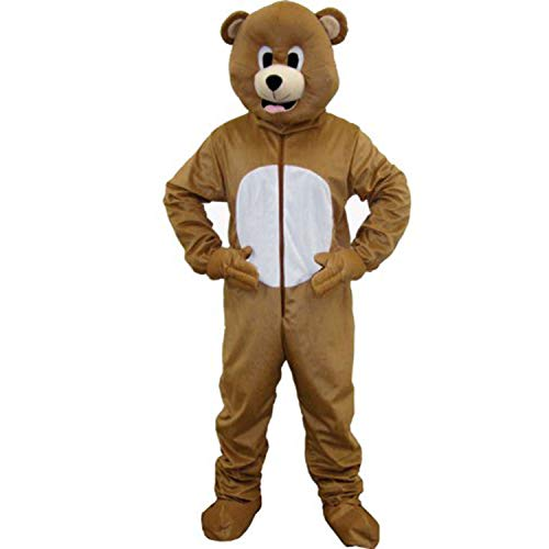 Dress Up America Bear Mascot, Brown, Adult One Size]()