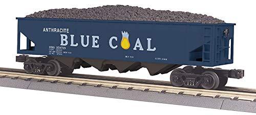 - MTH 30-75628 Anthracite Blue Coal 4-Bay Hopper Car 358719