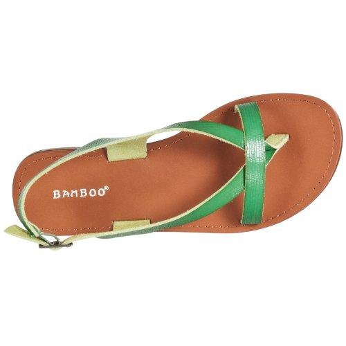 Sandalias Con Cordones En Relieve De Bamboo Mujeres Cable Lizard Verdes