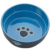 Ethical Stoneware Dish 6896 Fresco Dog Dish Blue, 5 Inch