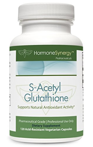 S-Acetyl Glutathione   120 Acid-Resistant VCaps   Patented Acetylated Glutathione (Emothion
