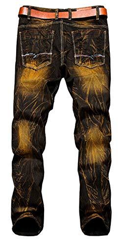 Pantaloni Dritti Ssig Uomo Jeans Moderna Colour Retro Colore Cotton Fashion Pants Misto Haidean Da Morbido Casual Denim E xwZWqqFa
