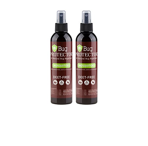 Bug Protector All Natural Mosquito/Insect Repellent Spray - DEET Free-8 oz (2 Bottles)