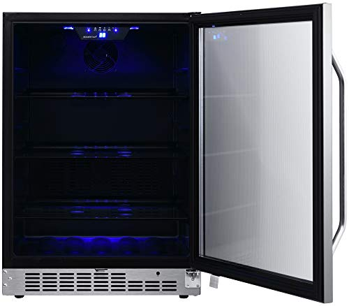 EdgeStar CBR1502SG 24 Inch Wide 142 Can Built-in Beverage Cooler with Tinted Door by EdgeStar (Image #4)