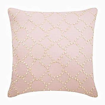 Amazon.com: Fundas de almohada decorativas de diseño rosa ...