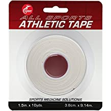 """Cramer Team Color Athletic Tape, Easy Tear Tape for Ankle, Wrist, & Injury Taping, Protect & Prevent Injuries, Promote Healing, Athletic Training Supplies, 1.5"""" X 10 Yard Roll, Colored AT Tape"""