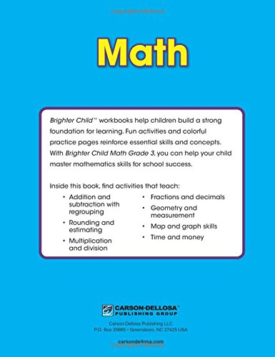 Math Workbook, Grade 3 (Brighter Child: Grades 3): Brighter Child ...