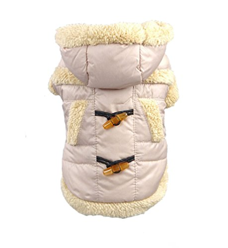 Min Cotton (Dog Thicken Cotton Coat Horn Button Pet Puppy Jacket Clothing (XS,)