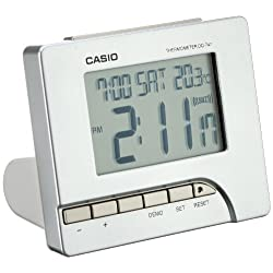 Casio DQ-747-8EF Digital Silver Tone Alarm Clock