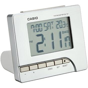 Casio DQ-747-8EF Digital Silver Tone Alarm Clock
