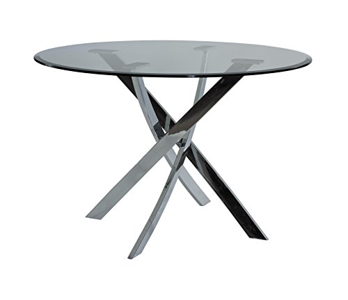 Powell Furniture 205-413 Putnam Dining Table Chrome