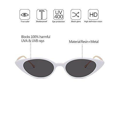 Metal de Mujeres UV400 02 protección Marco ZEVONDA de alta Gama Marco Vintage Gafas sol Pequeño Estilo qKXSfAtMR