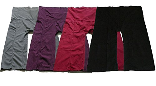 Cute Yoga Pants Thai Fisherman Trousers Lululemon Trousers Solid Pack Four Color Free Size Cotton Fabric