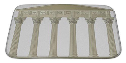 Doric Bath (Gear New Bath Rug Mat No Slip Microfiber Memory Foam, Corinthian Capitol,)
