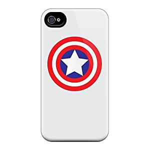 Awesome Zof4055FwLC EOVE Defender Tpu Hard Case Cover For Iphone 4/4s- Caps Shield Simple