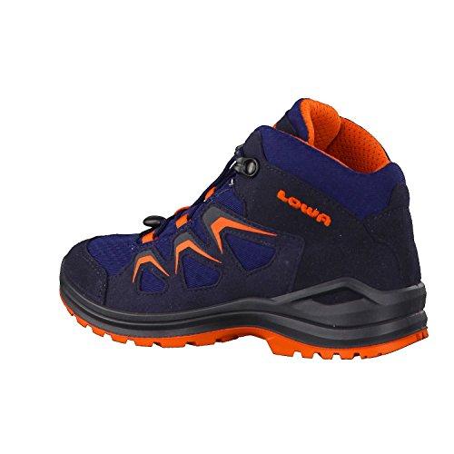 Lowa GTX Innox Lo Júnior Tamaño 350150-9903 Negro/Cal 36 a 40 azul oscuro y naranja