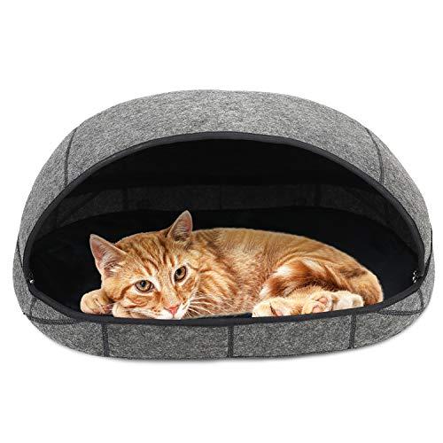 Barbieya Premium Katzenbett-Höhle (groß), umweltfreundliche Betten aus 100% Merinowolle für Katzen, handgefertigtes…