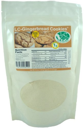 (Low Carb Gingerbread Cookie Mix - LC Foods - All Natural - No Sugar - Diabetic Friendly - 9.2 oz)