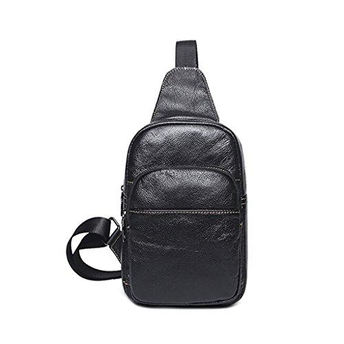 QJAIQQ Paquete De Bandolera Shoulder Messenger Bag Bolsos De Señora Ocasionales De La Cintura,Gray Black