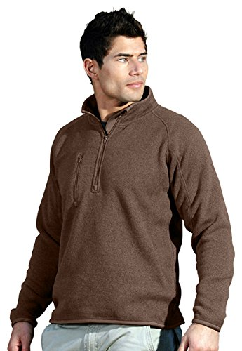 Tri-mountain Mens 100% Polyester 1/4 Zip Sweater Knit LS Fleece Shirt. 935 - BRITISH - British Tri