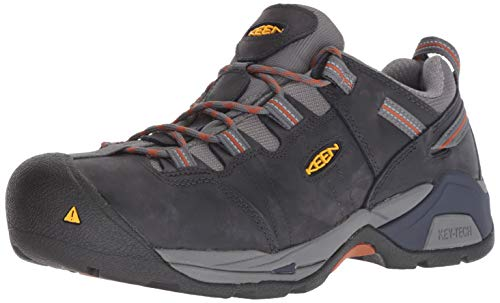 Keen Utility Men's Detroit XT Steel Toe Industrial Shoe, Navy Peacoat/Leather Brown, 11 D US