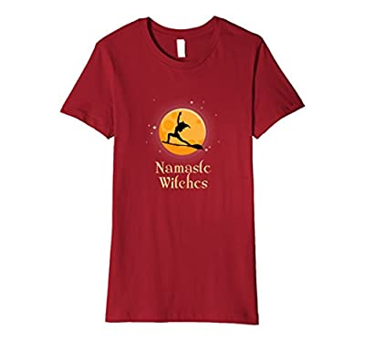 Funny Namaste Witches T-Shirt Halloween Yoga Gift for Her